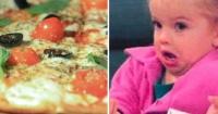 """La hilarante """"experiencia religiosa"""" que vivió esta niña al comer pizza por primera vez"""
