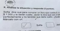 Publican la respuesta de un niño en una prueba de matemáticas y todos ríen en las redes sociales