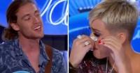 Quedó paralizado de la cintura hacia abajo y al comenzar a cantar, Katy Perry rompe en llanto