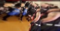 Padre enfurecido golpeó brutalmente a luchador que escupió a su hija