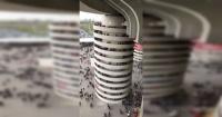 La ilusión óptica que hace 'girar' las columnas del estadio del Inter de Milán