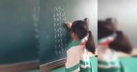 El genial truco de una niña para resolver la tabla del 9