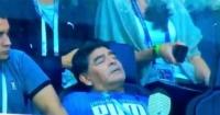 ¿Se quedó dormido durante el triunfo de Argentina? La comentada imagen de Maradona en Rusia