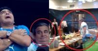 ¿Quién es el relajado hombre que come mientras atienden a Maradona?