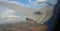 El aterrador video de un pasajero desde un avión a punto de estrellarse