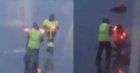 """Trabajadores del aeropuerto luchan al estilo """"Star Wars"""" en plena pista y la rompen en las redes sociales"""