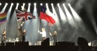 El epic fail de Paul McCartney: confundió la bandera de Chile con la de Texas en pleno concierto