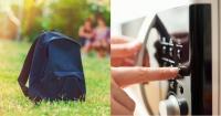 Llevó sus cuadernos en un microondas luego que el colegio le prohibiera usar mochila