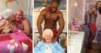 Ancianas hacen colecta entre sus familiares y contratan a meseros desnudos en su residencia