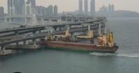 Capitán ebrio estrella un buque contra un puente en Corea del Sur