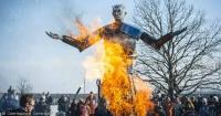 """Queman muñeco del villano de """"Juego de Tronos"""" durante una fiesta en Rusia"""